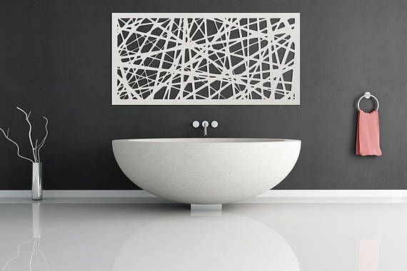 White Line work Metal Wall Art - Home Decor - Wall Hanging - Wall