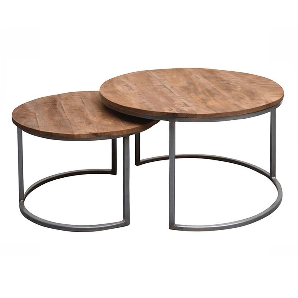 2er Set Couchtisch Jamie Rund Metall Mango Satztische Beistelltisch Sofatisch Ebay Sofa Tisch Couchtisch Set Couchtisch Metall