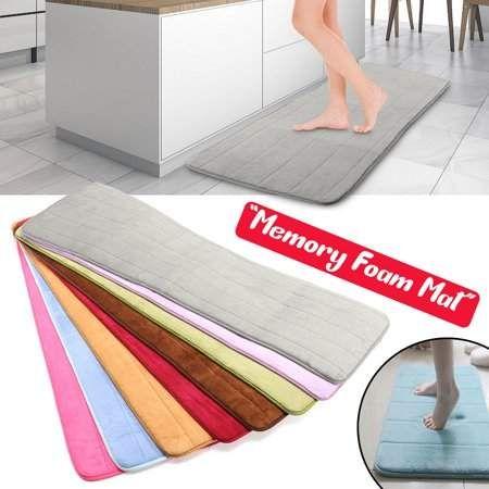 Home Bedroom Flooring Bathroom Rugs Mats Memory Foam