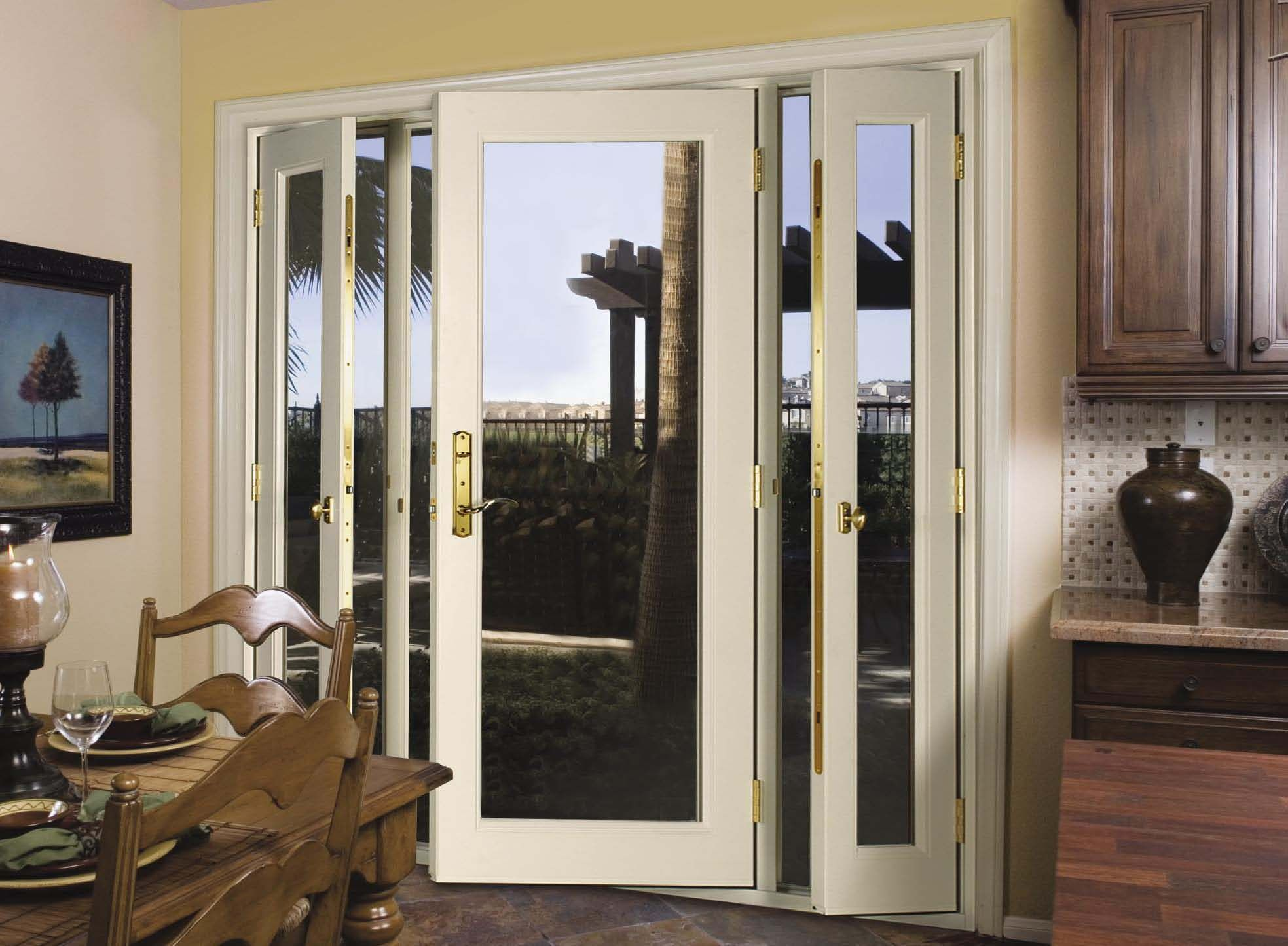 Exterior glass patio doors - Venting Sidelite Patio Door 01
