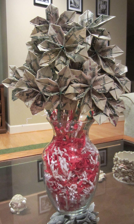 Money Bouquet on Pinterest Money Flowers, Dollar Origami and Dollar ...