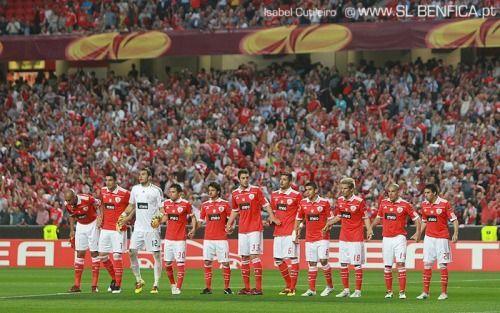 celestecielo:  Benfiiiiiicccaaaaa <3 <34-1 (1st leg) against PSV Eindhoven in Europa League :D :D