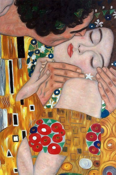 Wall Art: Klimt - The Kiss (Close-Up