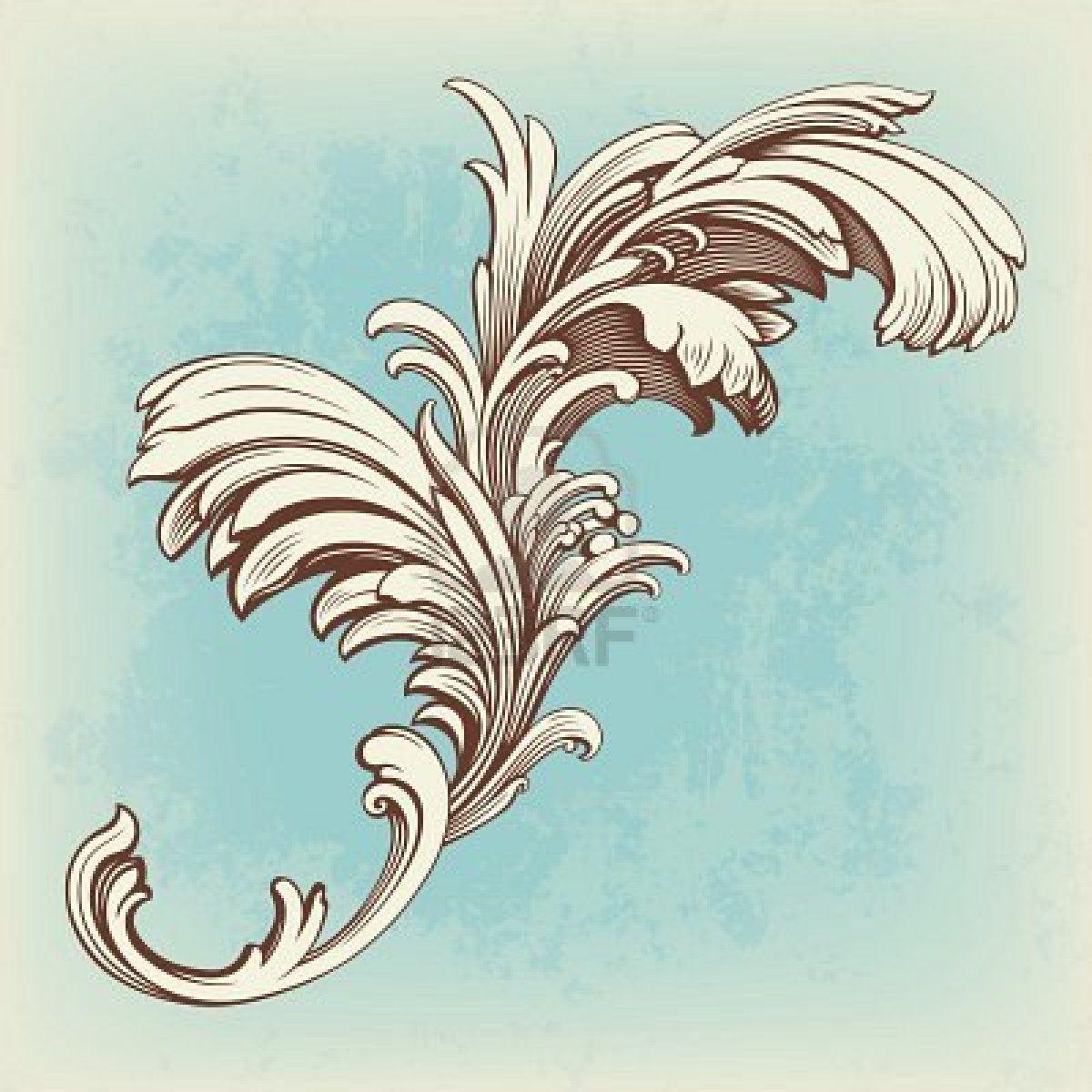 Stock Vector Vector flowers, Baroque pattern, Baroque art
