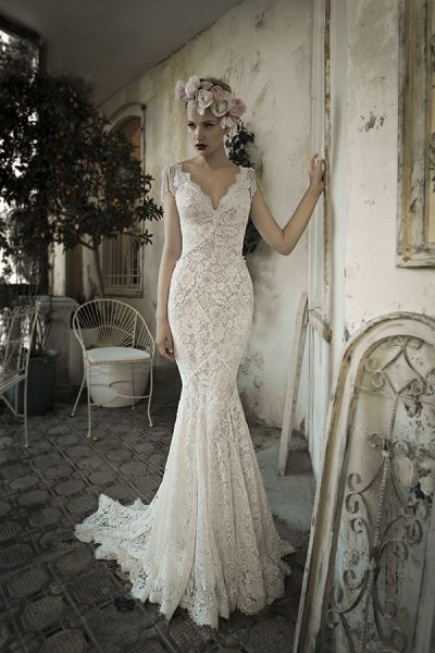 vestido de novia romántico, línea sirena, realizado encaje | sweet