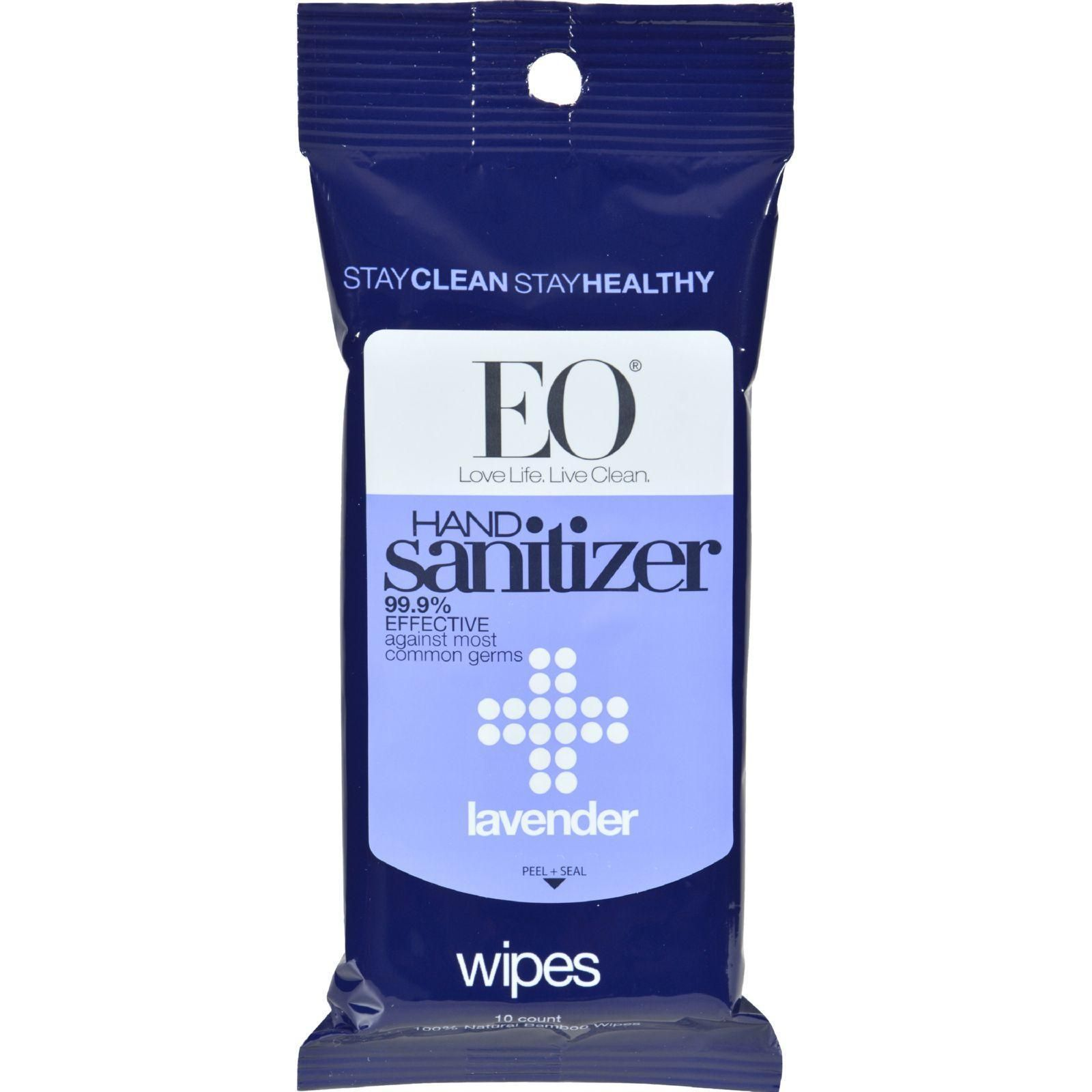 Eo Products Hand Sanitizer Wipes Display Center Lavender Case