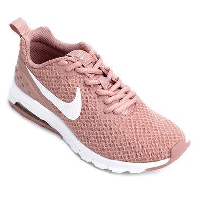 7c53be4dc7 O Tênis Nike Air Max Motion Lw Feminino Pink e Branco traz uma releitura de  um