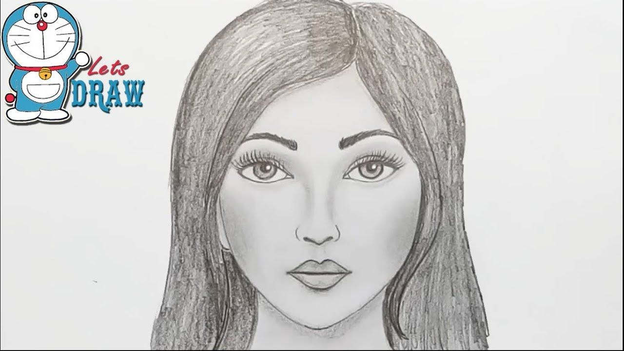How To Draw Face For Beginners Easy Way To Draw A Realistic Face Face Drawing Realistic Face Drawing Girl Face Drawing
