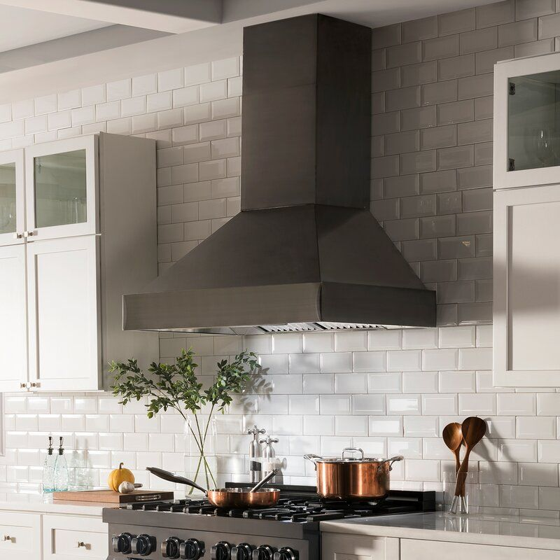 30 Zline 400 Cfm Ducted Wall Mount Range Hood In Black Stainless Steel Kitchen Vent Hood Kitchen Range Hood Kitchen Hoods