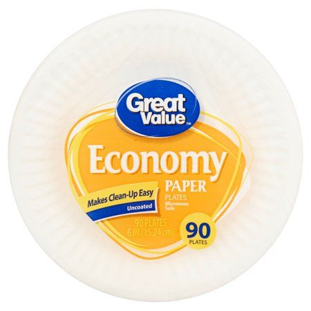 Great Value Economy Paper Plates, 90 count in 2019