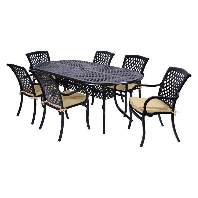Outdoor MiYu Furniture Wellington 7 Piece Patio Dining Set Without Cushion - 1422