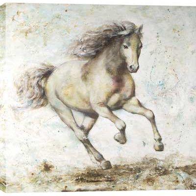 Hobbitholeco. Running Horse by Anastasia C. Painting on Wrapped Canvas