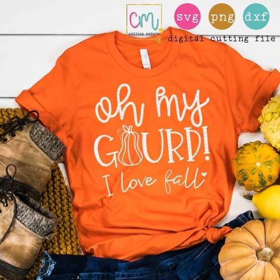 Download Oh My Gourd I Love Fall | SVG, PNG, DXF Silhouette Cameo ...
