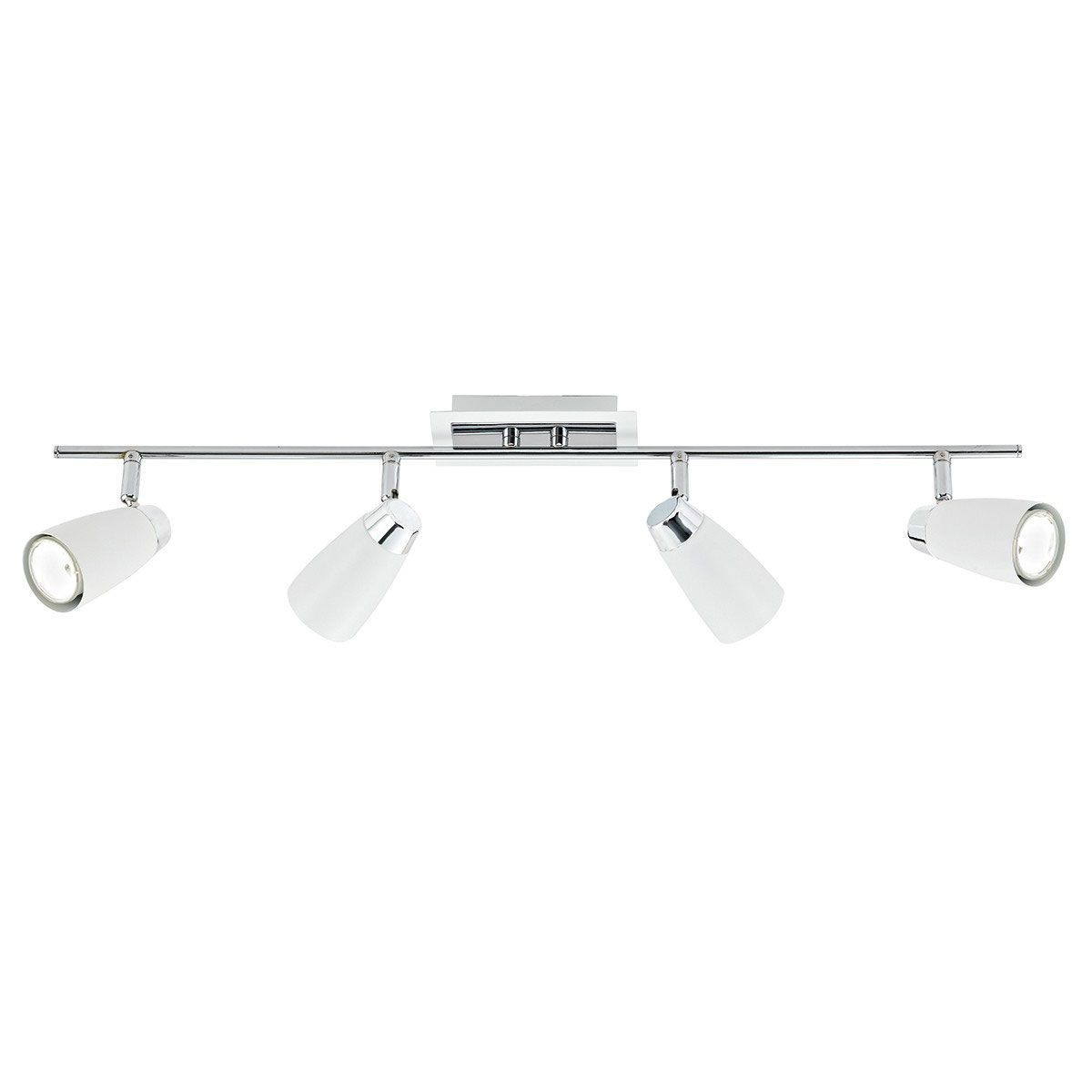 The Loft from Dar is a four light bar spotlight. Finished in matt ...