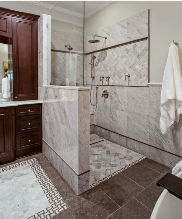 Awesome Open Shower Http://www.houzz.com/photos/traditional