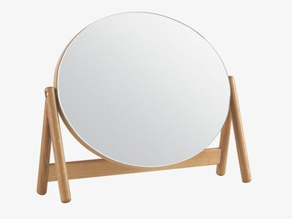 Esme Natural Wood Dressing Table Mirror Habitatuk