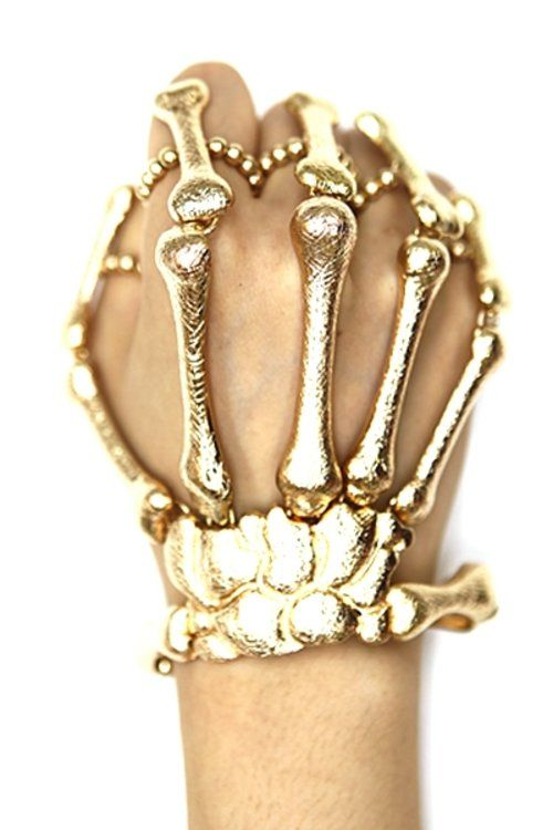 Skeleton Skull Hand Ring Bracelet