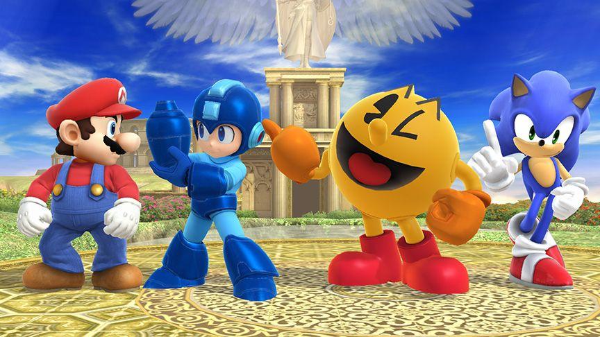 Mario Vs Sonic Vs Megaman Vs Pacman Mario, Mega Man, Pac M...