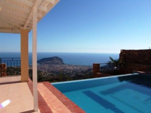 Spacious Panoramic Sea View Villas in Alanya For Sale Turkey