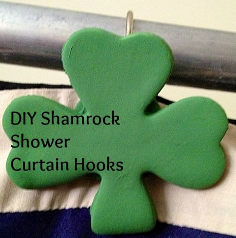 DIY Shamrock Shower Curtain Hooks | Hooks | Pinterest | Shower ...