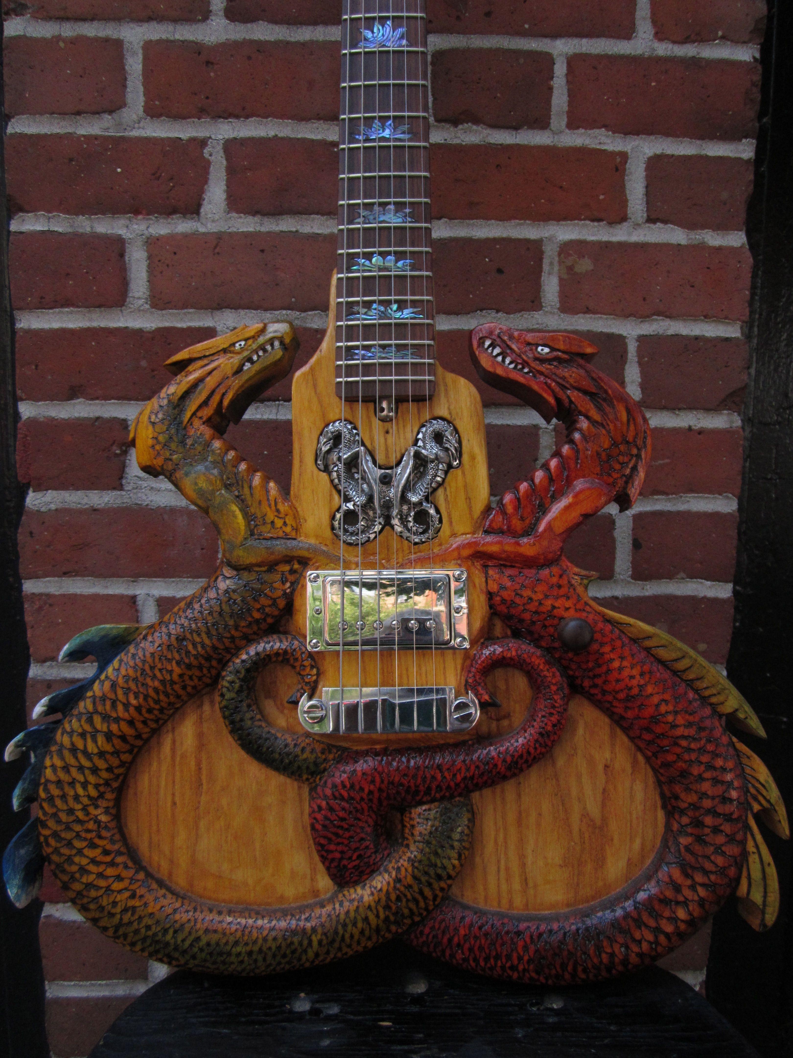 The Rick Kelly double dragon kelly guitars carminestreetguitars.com