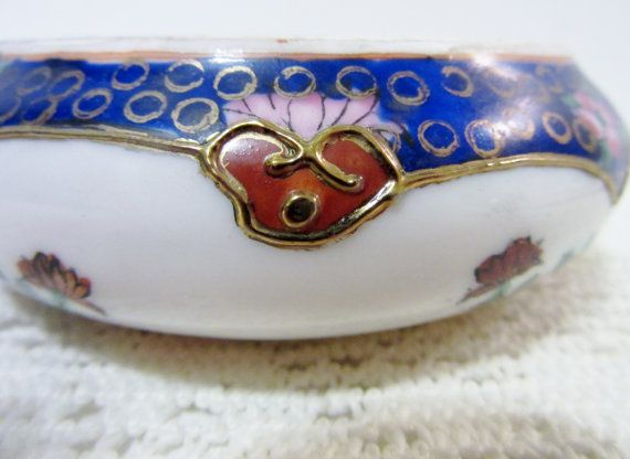 Asian Bowl Chinese bowl Cloisonne Bowl Small by PorcelainChinaArt