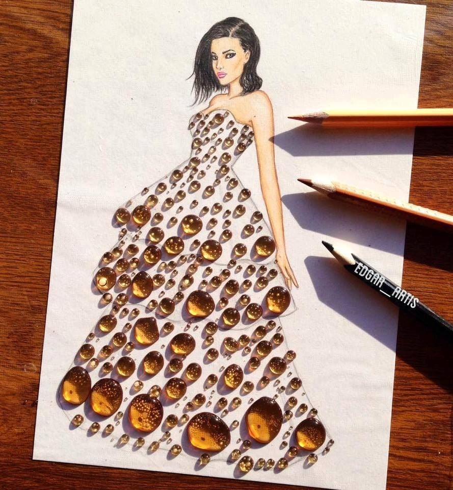 Creative Fashion Design Illustration By Armenian Artist Edgar Art Dress Illustration Fashion Design Fashion Design Drawings