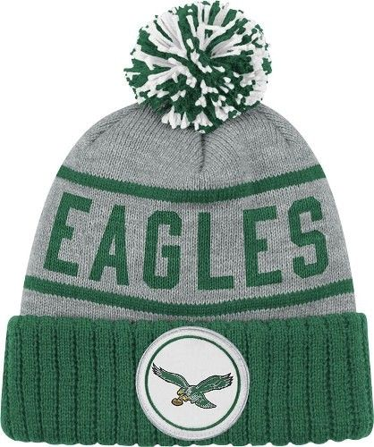 Philadelphia Eagles NFL Mitchell   Ness The High 5 Vintage Cuffed Premium  Knit Hat 7698285851d