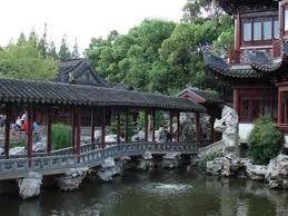 Ponte na Cidade Antiga em Xangai