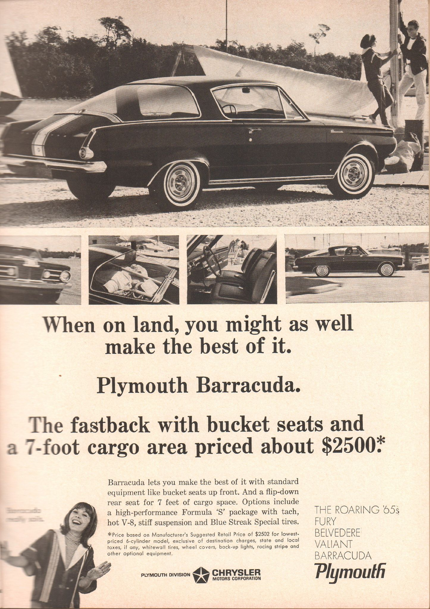 1965 Plymouth Barracuda Advertisement Sports Afield June