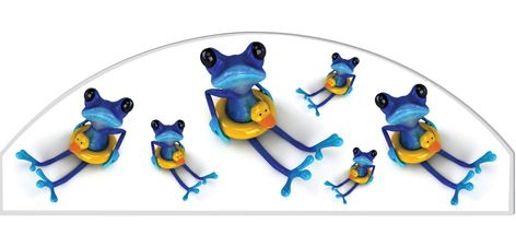 Six little frogs