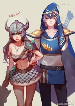 Genderbend Tryndamere and Ashe by askzy