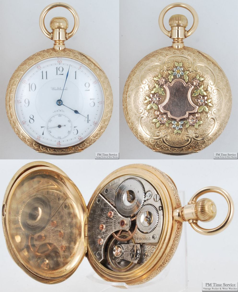 0b0362f5a Vintage Pocket Watch · Dial, case, and movement photos of a high-grade vintage  Waltham