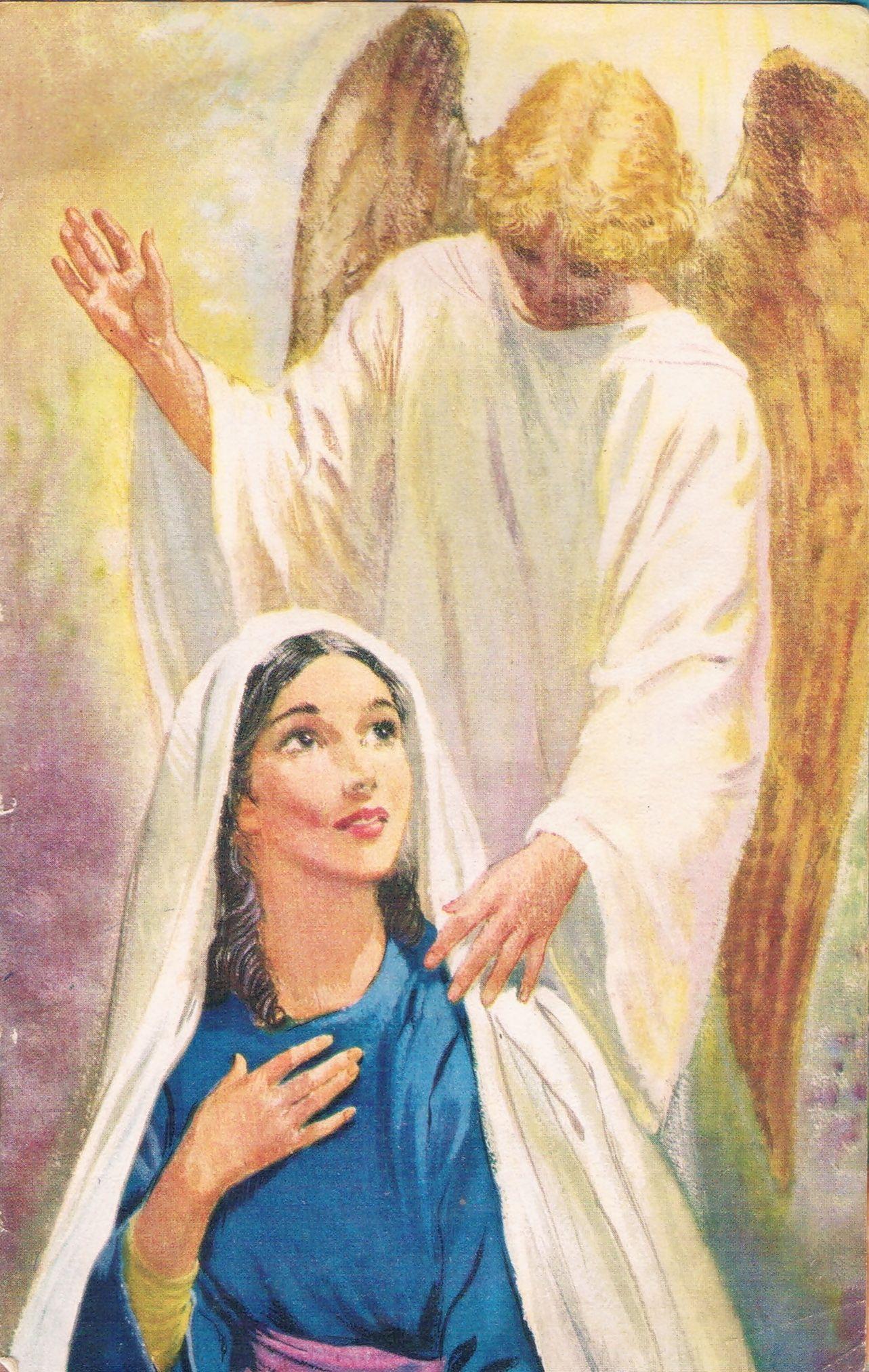 Virgen Maria Con El Arcangel Gabriel Energia Imagenes De