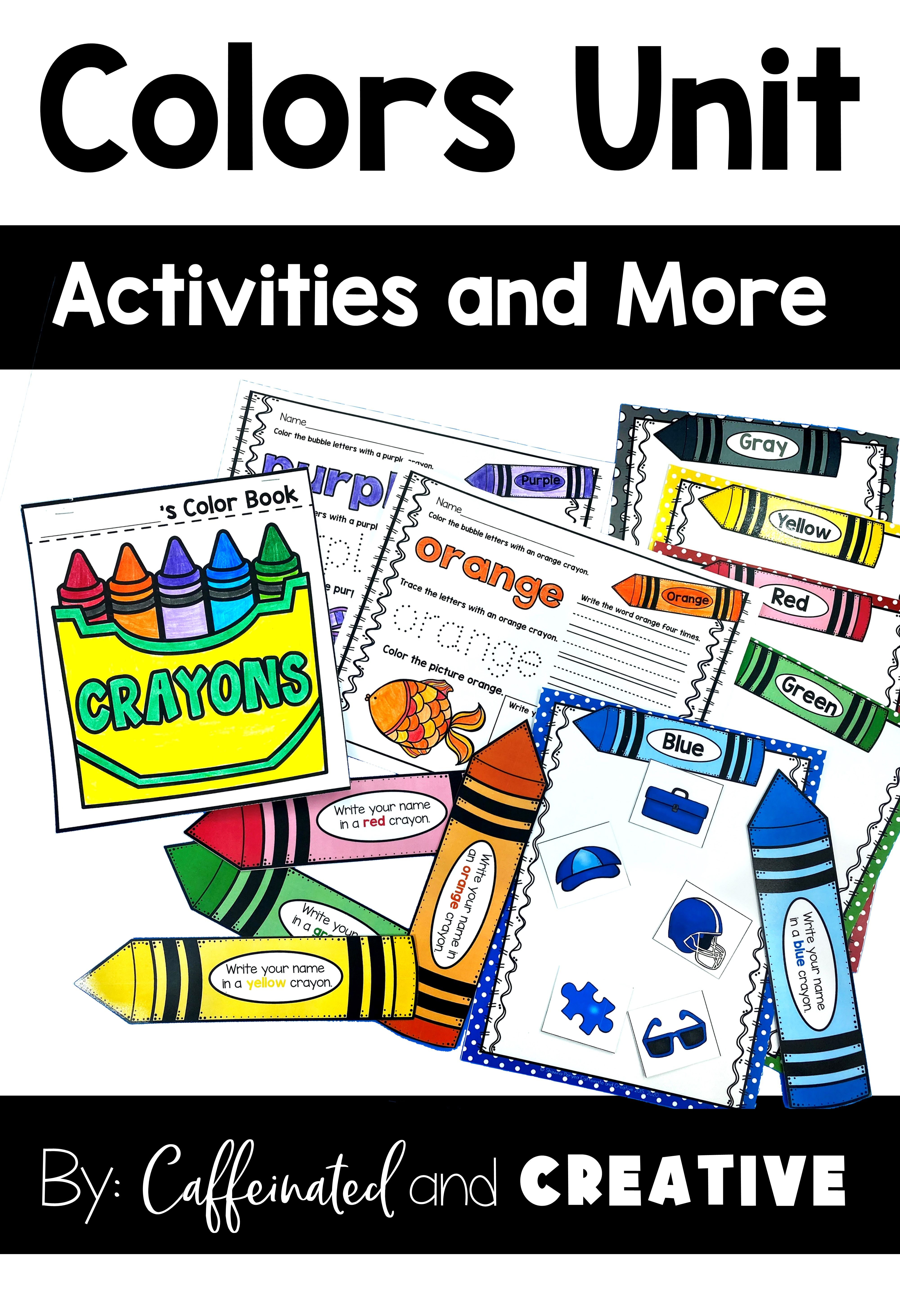 Color Unit Activities And More In