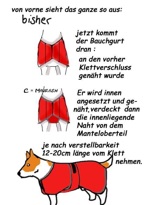 Do it yourself Hundemantel . | nähen | Pinterest | Hunde, Hunde ...