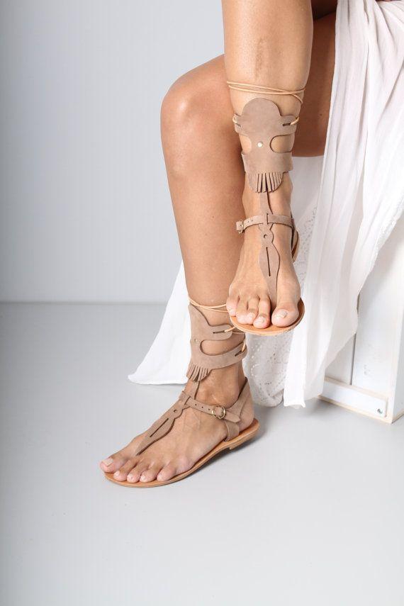 dcb9a716a47c Leather sandals Greek sandals nubuck sandals by TheMerakiCompany ...