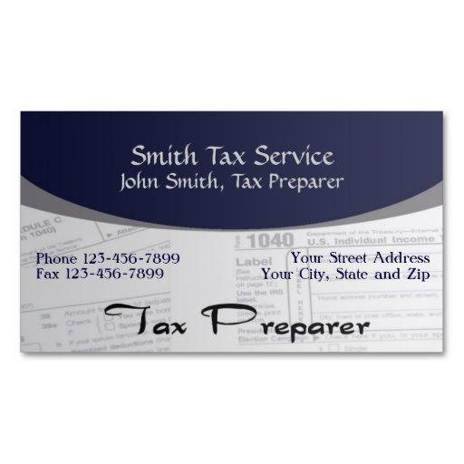 Tax Preparer Accountant Business Card Zazzle