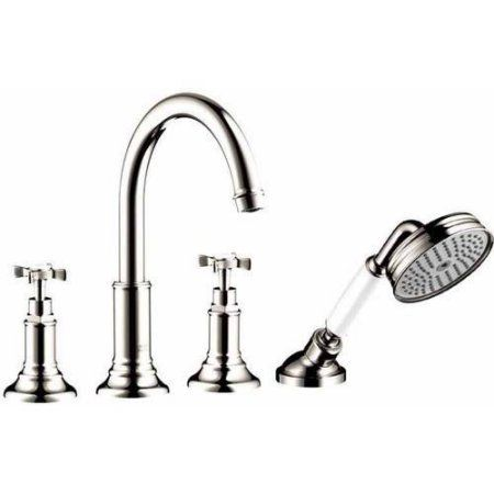 Hansgrohe Axor 16544831 Montreux Roman Tub Filler Faucet Wall-Mounted Less Valve, Various Colors, Silver