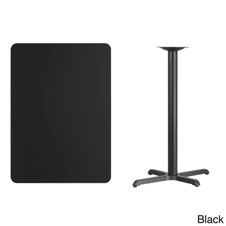 Flash Furniture Rectangular Laminate Table Top with Base