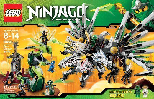 Amazon.com: LEGO Ninjago 9450 Epic Dragon Battle: Toys & Games ...