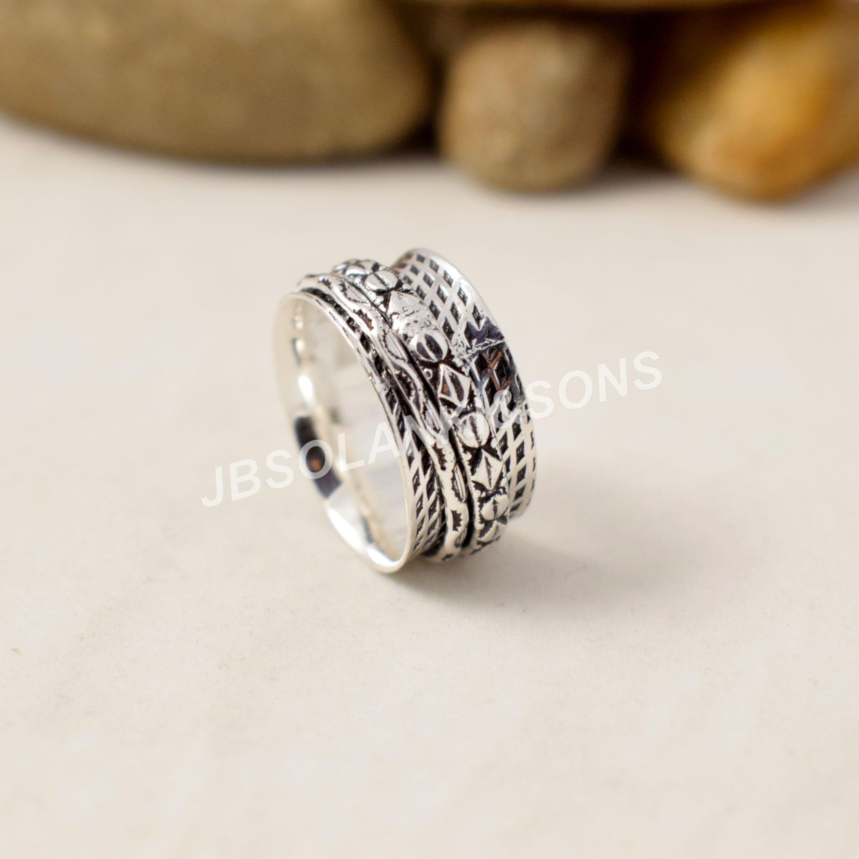 Birthday Gift Designer Ring Thumb Ring Handmade Ring Spinner Ring Women/'s Ring Spinner Band Ring Fidget Ring