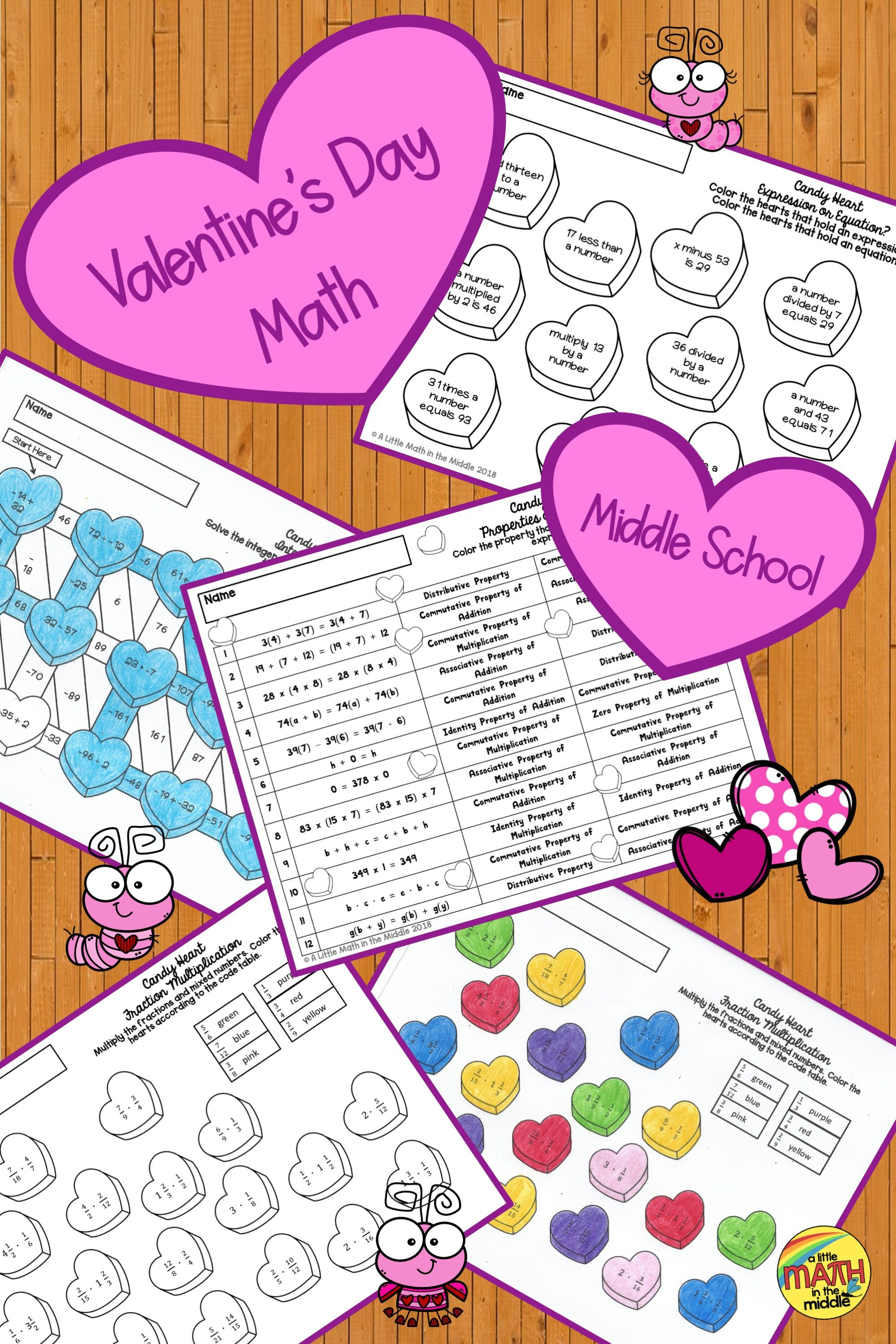 Four No Prep Coloring Activities To Review Math Concepts