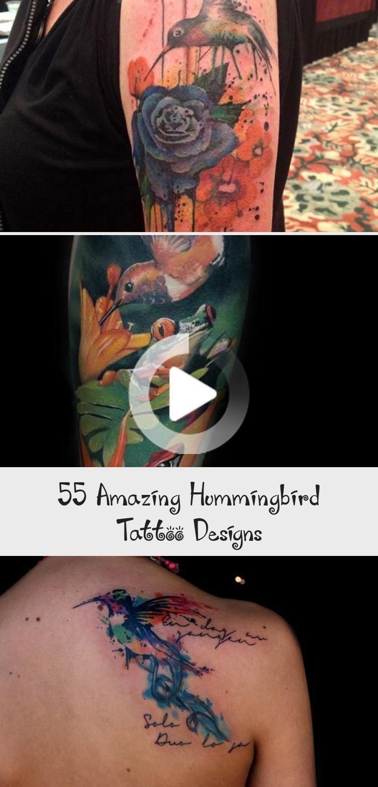 Photo of Hummingbird sleeve tattoo &; 55 Amazing Hummingbird Tattoo Designs ♥ ♥ blac&…