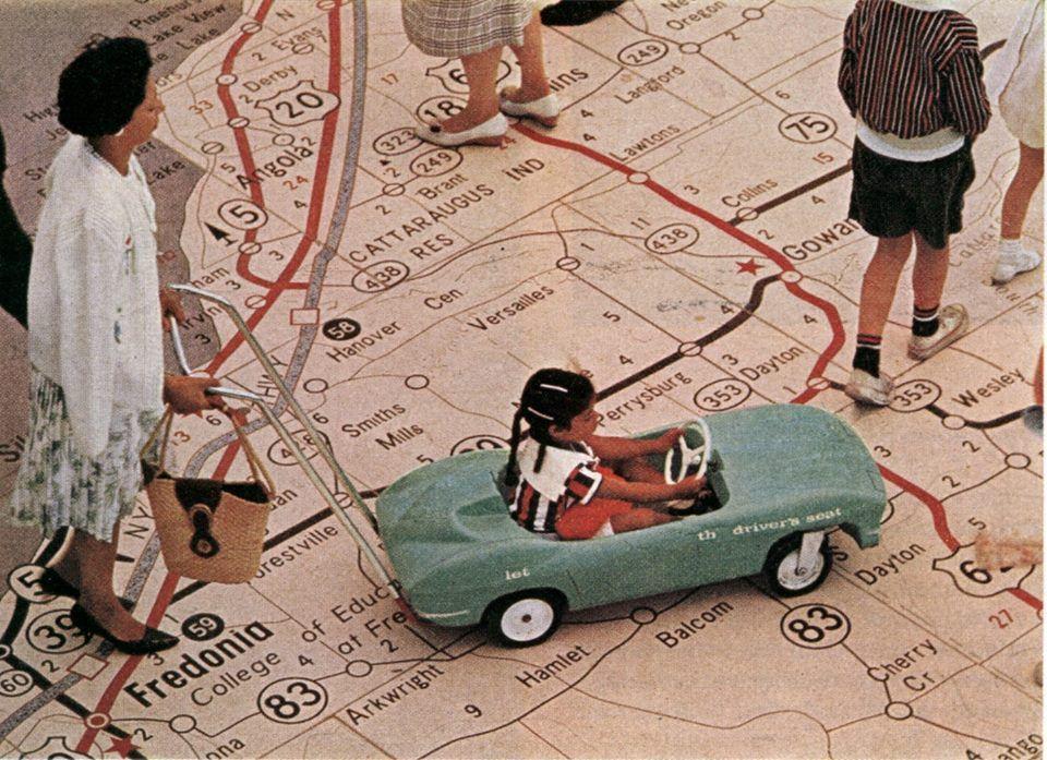 Mobili Terrazzo ~ New york worlds fair 1964 1965. terrazzo road map new york state