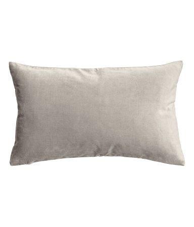 Velvet Cushion Cover Gray Home H M Us Kissen Samt Kissenhullen