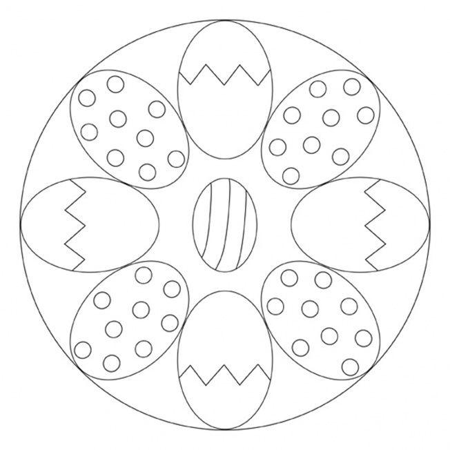 easter egg mandala 2  mandala ostern ostern zeichnung