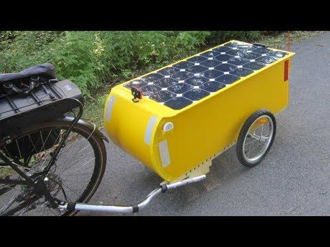 10 Solar Electric Bicycle Touring Trailer For Luxury Camping Youtube Electric Bicycle Bicycle Trailer Bicycle Camping