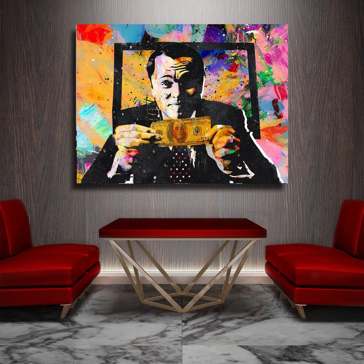 Invincible Canvas Wall Art By Canvas Cultures Painting Canvas Wall Art Wolf Of Wall Street