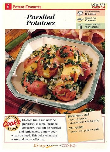 Easy Everyday Cooking Cards Parslied Potatoes